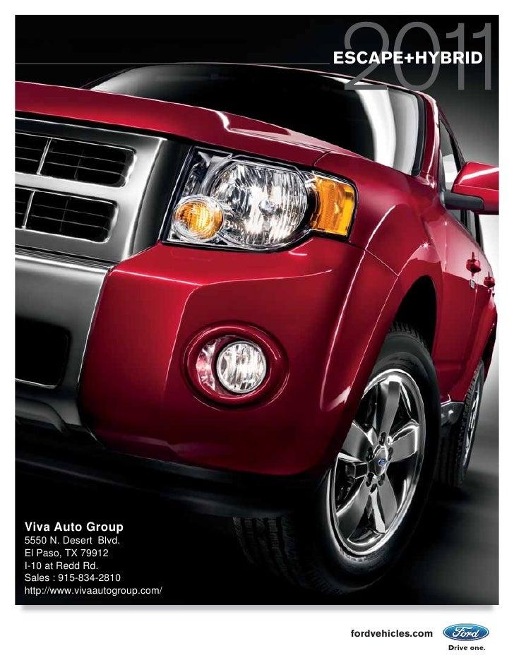 2011  Ford Escape Ford of Viva Auto Group El Paso TX