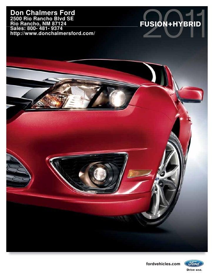 2011 Don Chalmers Ford Fusion Albuquerque NM