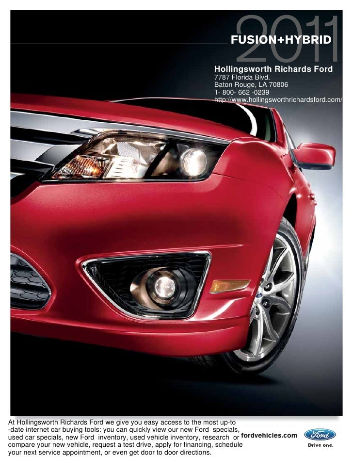 2011 hollingsworth richards ford fusion baton rouge la. Cars Review. Best American Auto & Cars Review