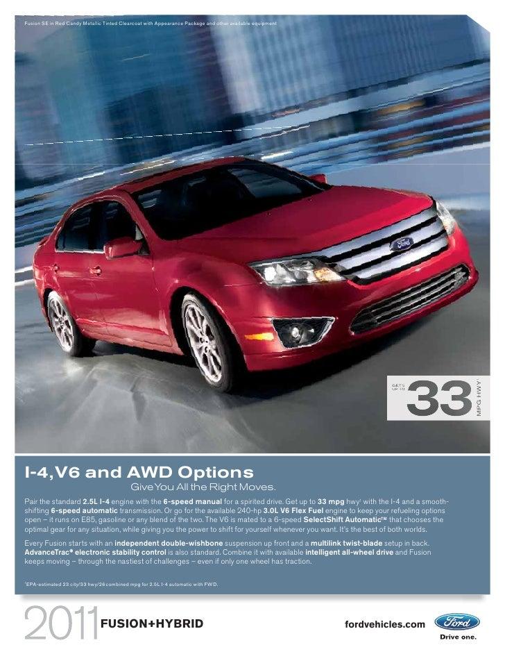 2010 ford fusion v6 mpg