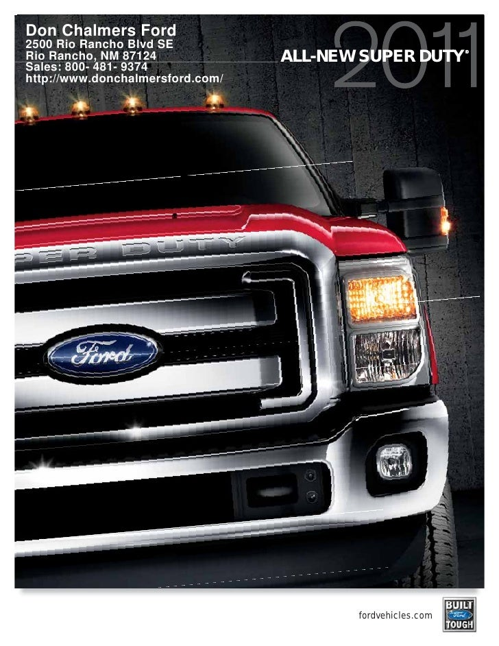 2011 Don Chalmers Ford Super Duty Albuquerque NM