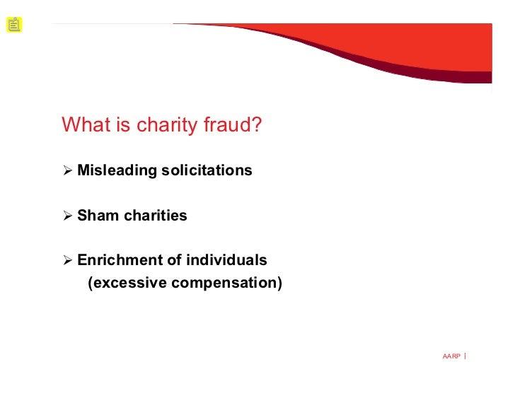 charity fraud essay