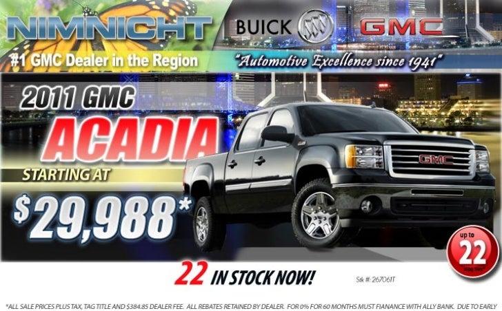 2011 GMC Acadia Jacksonville FL | Nimnicht GMC