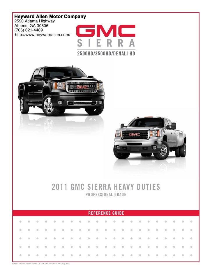 Heyward Allen Gmc >> 2011 Gmc Sierra Brochure Heyward Allen Motor Company Atlanta Ga