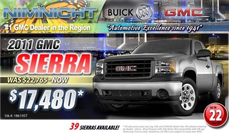 2011 GMC Sierra Jacksonville FL | Nimnicht GMC