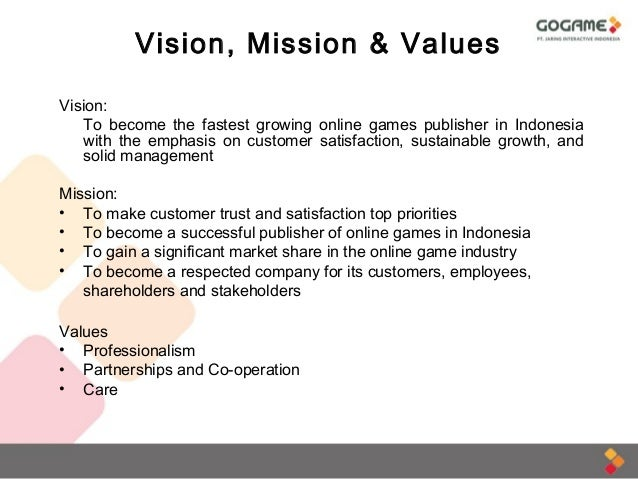 Gogame company profile indonesia gaming market statistics for Vision industries group