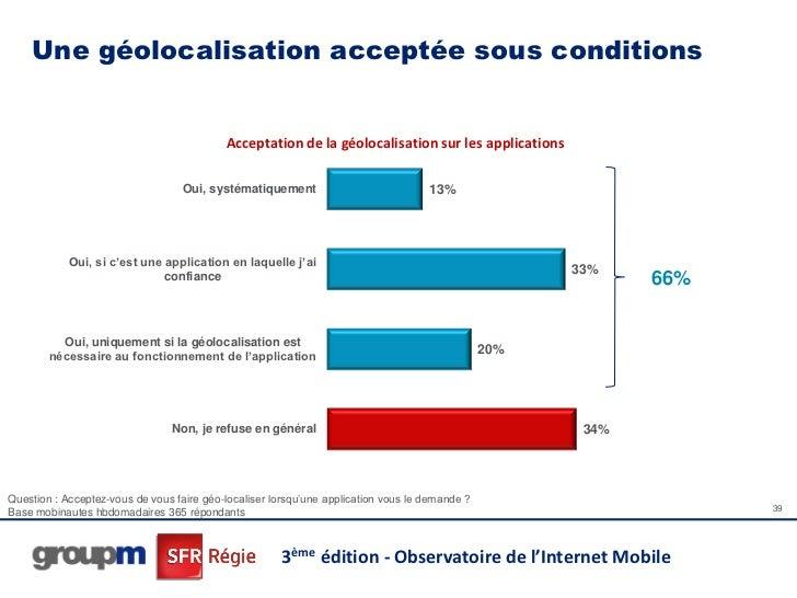 Une géolocalisation acceptée sous conditions                                           Acceptation de la géolocalisation s...