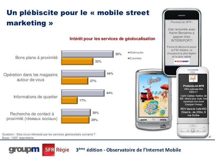 Un plébiscite pour le « mobile street   marketing »                                                                       ...