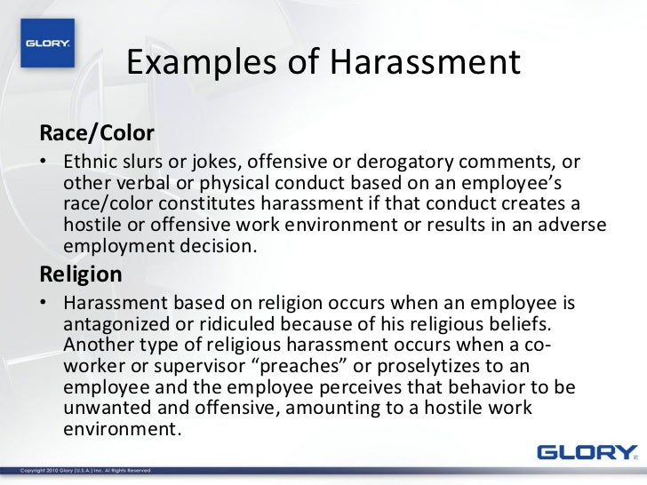 Examples Of Discrimination In The Workplace. 2011 Harassment And  Discrimination Training . Examples Of Discrimination In The Workplace  Examples Of Discrimination In The Workplace