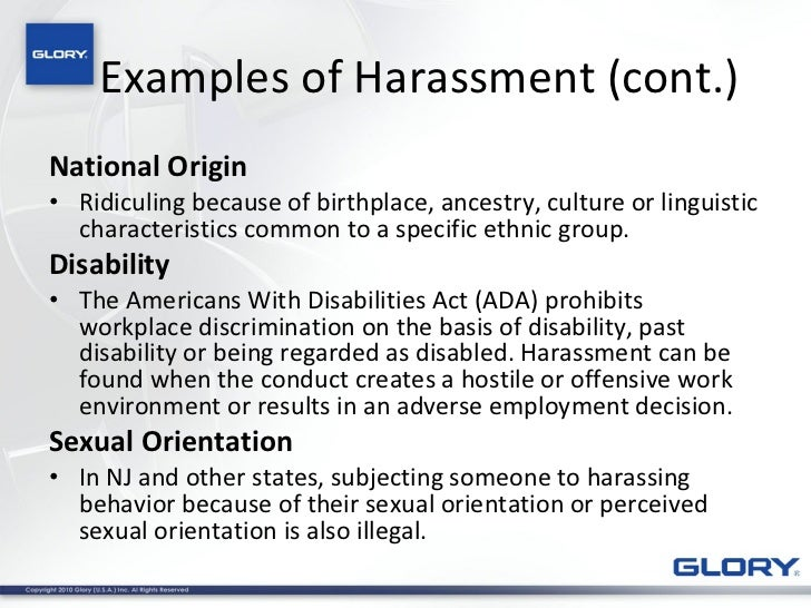 2011 Harassment And Discrimination Training