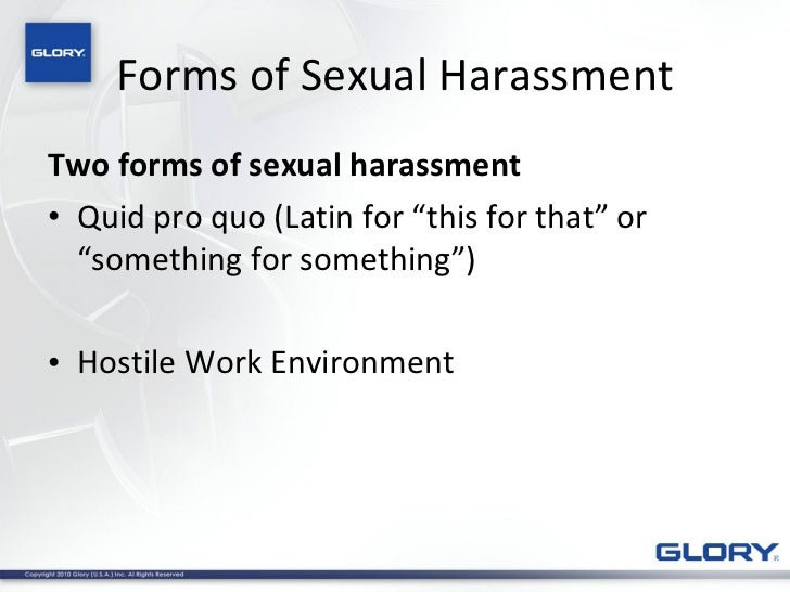 Colloquial pro quo sexual harassment