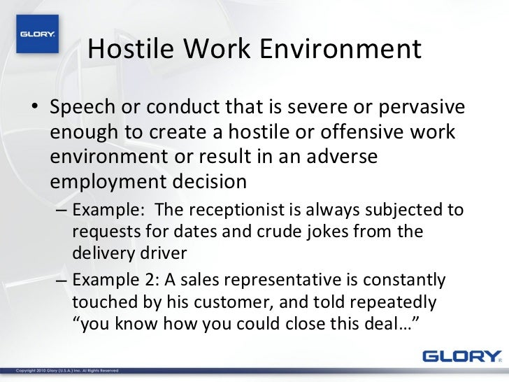 Sexual Harassment Hostile Environment