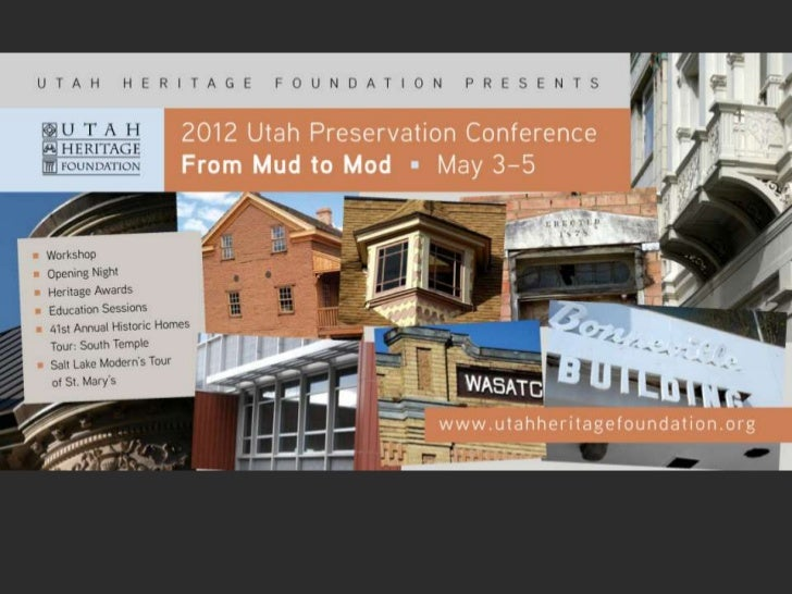 Utah Preservation Conference Sponsors                               Organization Sponsors                                 ...