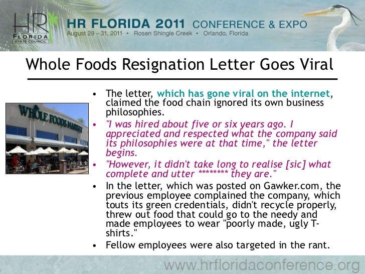 Cherveny social media meets employment whole foods resignation letter expocarfo