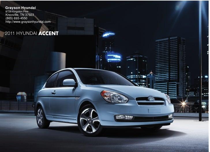 2011 Hyundai Accent- Grayson Hyundai Knoxville, TN