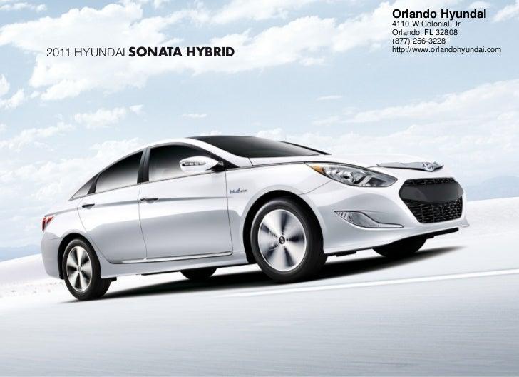2011 Hyundai Sonata Hybrid For Sale In Orlando FL| Orlando