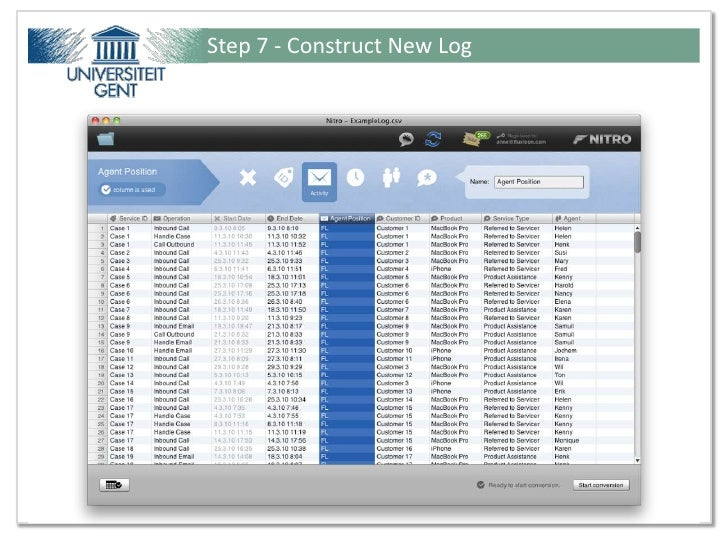 Step 7 - Construct New LogPresentation for Ideas@Work - Tutorial from Fluxicon ©                         32 / 51