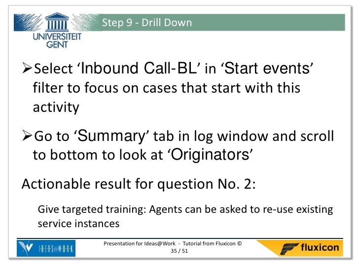 Step 9 - Drill DownSelect 'Inbound Call-BL' in 'Start events' filter to focus on cases that start with this activityGo t...