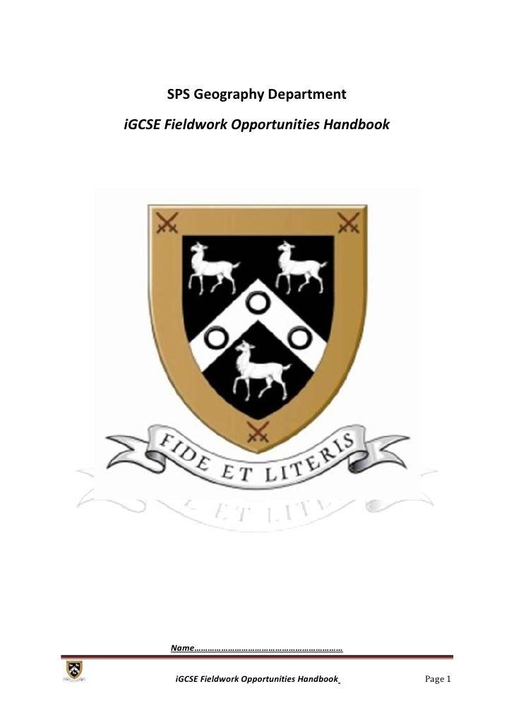 gcse geography fieldwork coursework