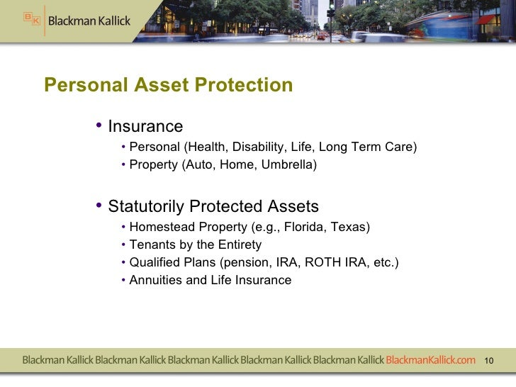<ul><li>Insurance </li></ul><ul><ul><li>Personal (Health, Disability, Life, Long Term Care) </li></ul></ul><ul><ul><li>Pro...