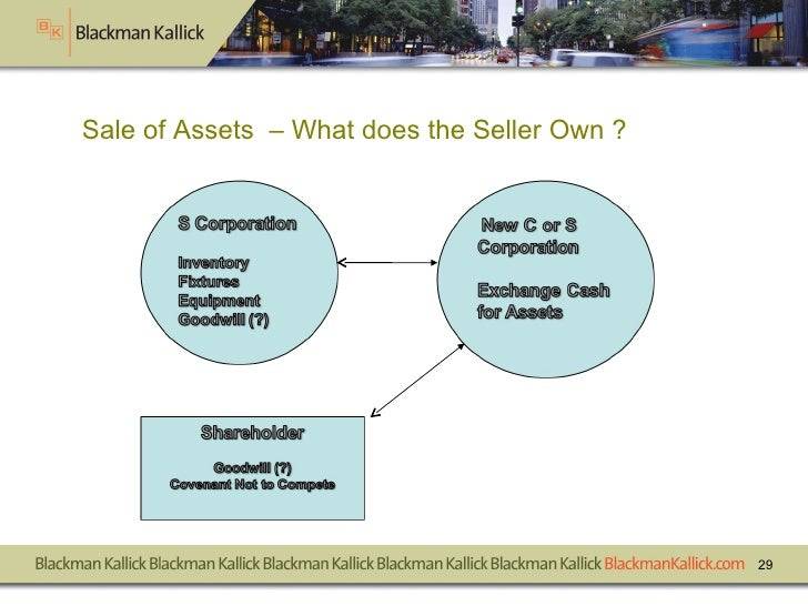 Sale of Assets  – What does the Seller Own ?