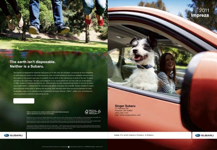 2011                                            ImprezaSinger Subaru77 Plaistow RdPlaistow, NH 03865(603) 382-7101http://w...