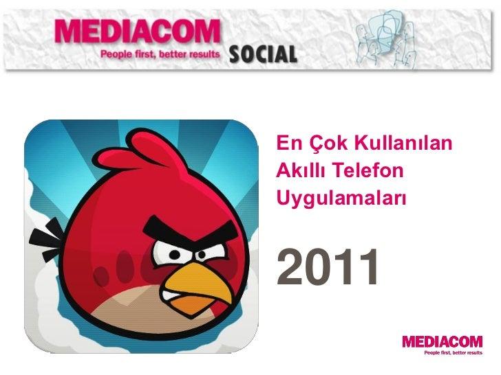 En Çok KullanılanAkıllı TelefonUygulamaları2011