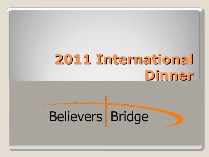 2011 International Dinner