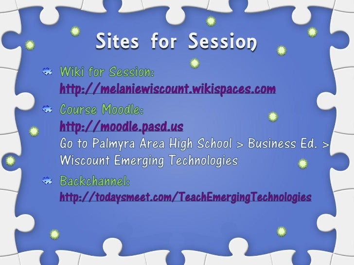 Sites for Session
