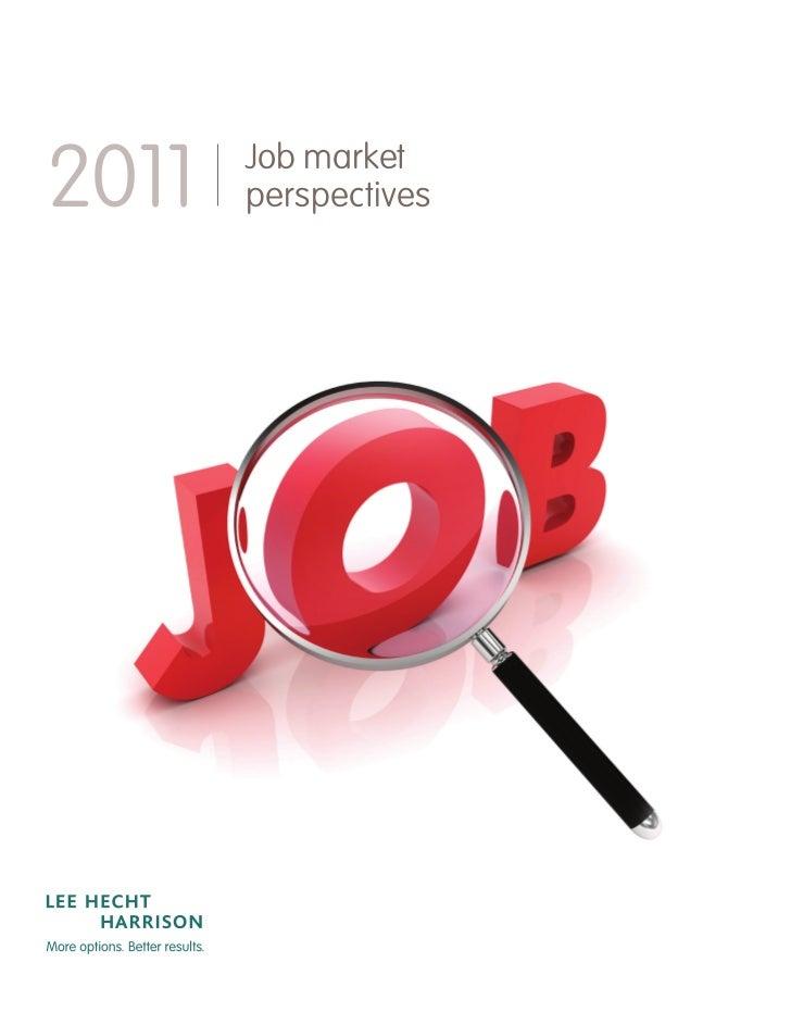 2011   Job market       perspectives