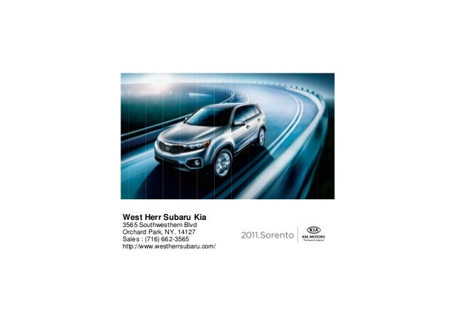 West Herr Subaru Kia 3565 Southwesthern Blvd Orchard Park, NY. 14127 Sales : (716) 662-3565 http://www.westherrsubaru.com/