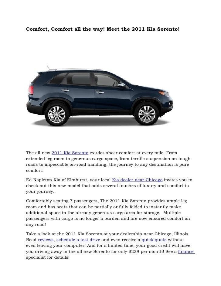 Ed Napleton Kia >> 2011 Kia Sorento Chicago