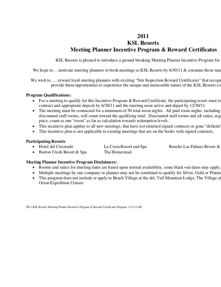 2011                                                        KSL Resorts                                   Meeting Planner ...