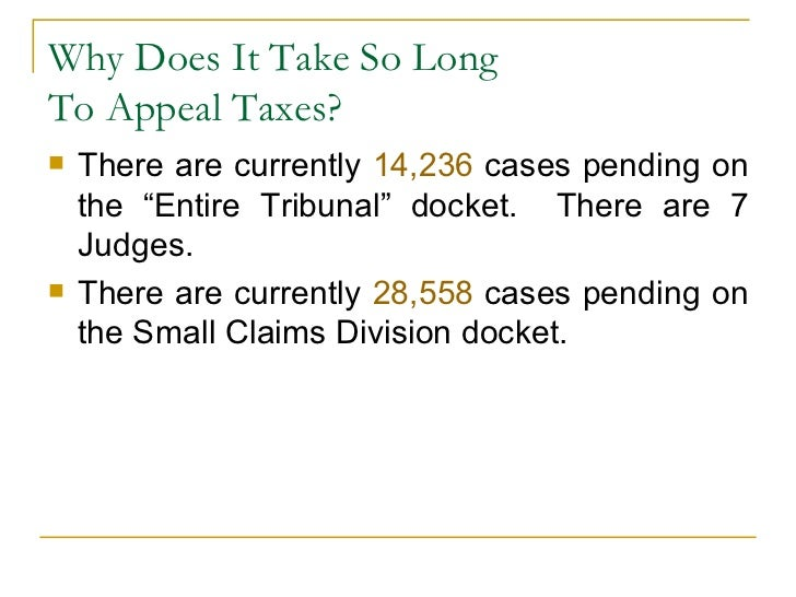Entire Tribunal Property Tax Petition