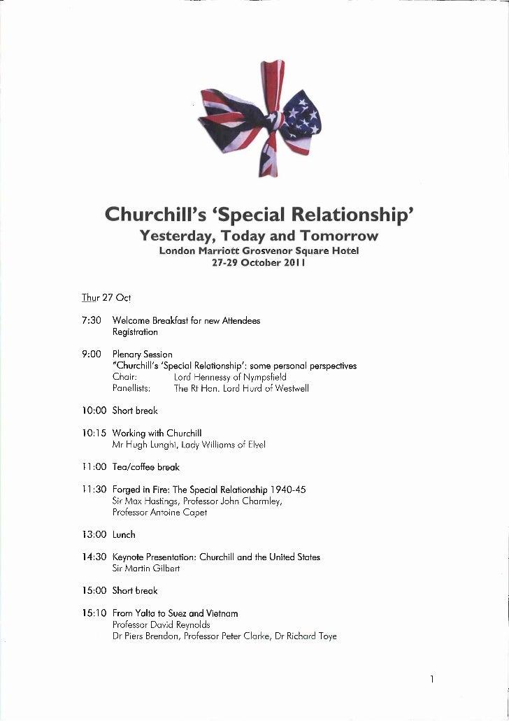 2011 London Conference Programme