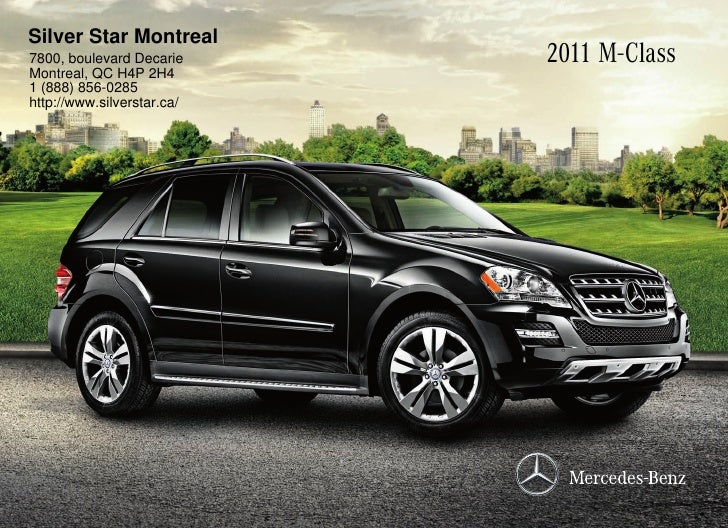 2011 mercedes benz ml550 suv silver star montreal qc canada for Mercedes benz silver star