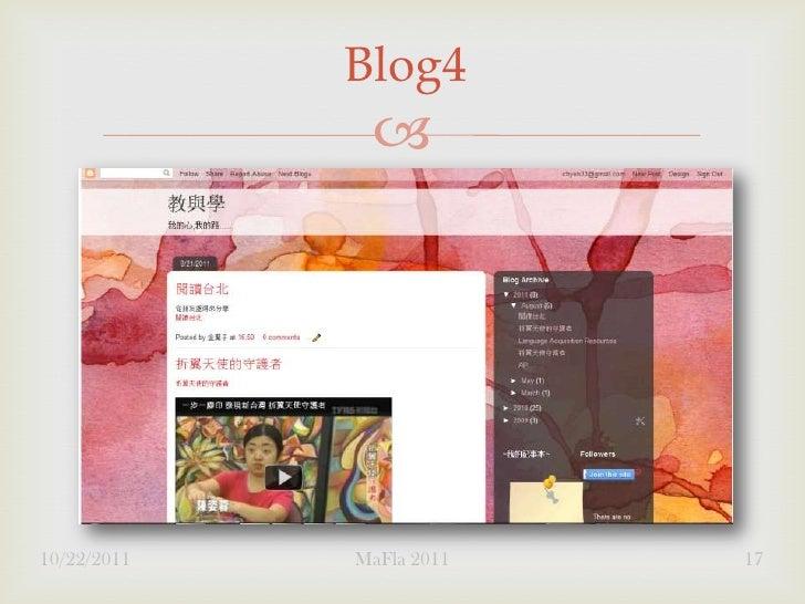 Blog4              10/22/2011   MaFla 2011   17
