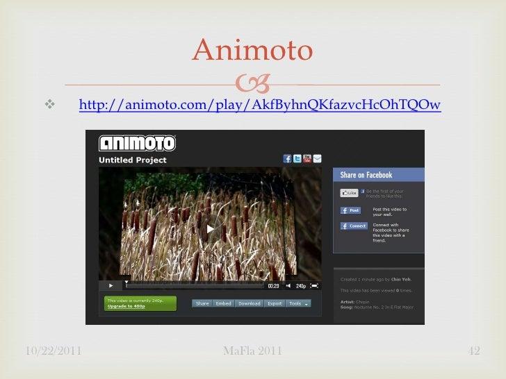Animoto                                        http://animoto.com/play/AkfByhnQKfazvcHcOhTQOw10/22/2011                 ...