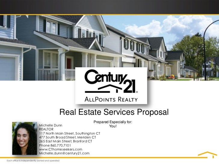 Real Estate Services Proposal                                 Prepared Especially for:Michelle Dunn                       ...