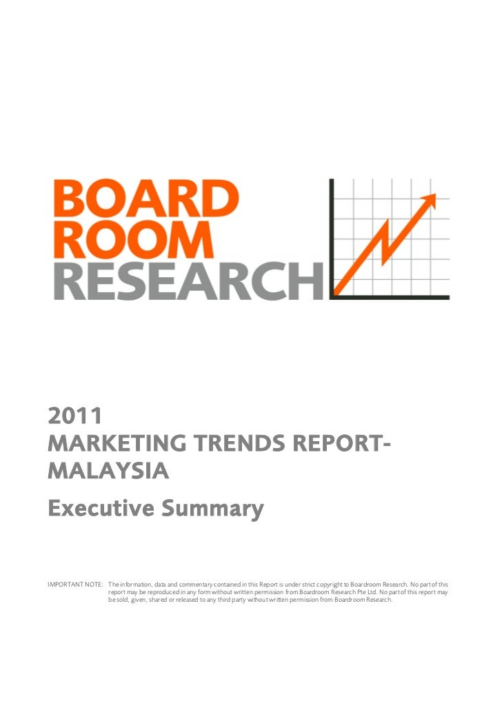 how to write an exec summary for research report