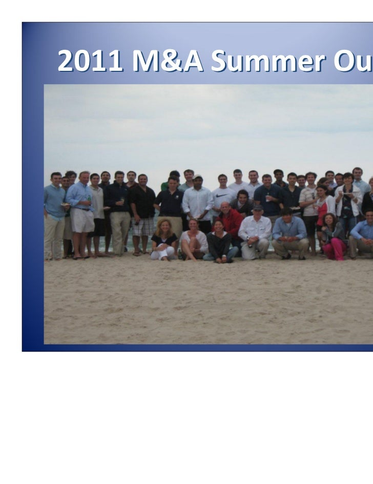2011M&ASummerOuting
