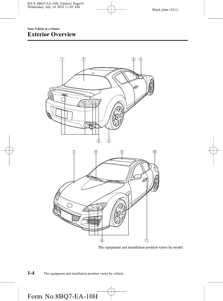 mazda rx 8 owners manual