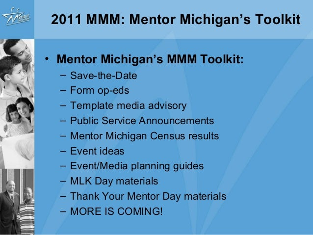 2011 michigan mentoring month webinar for Public service announcement template
