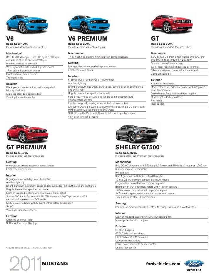2011 Mustang Brochure