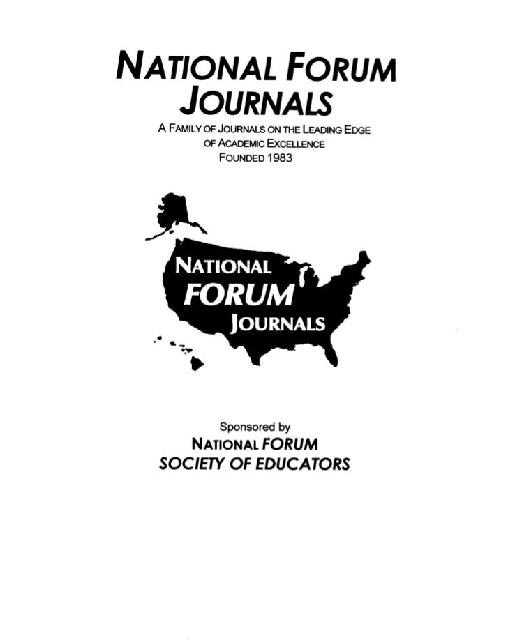 National FORUM of Multicultural Issues Journal, 8(2) 2011