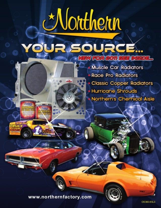 Northern 205142 55-57 Chevy Hotrod Belair Crossflow Conversion Aluminum Radiator