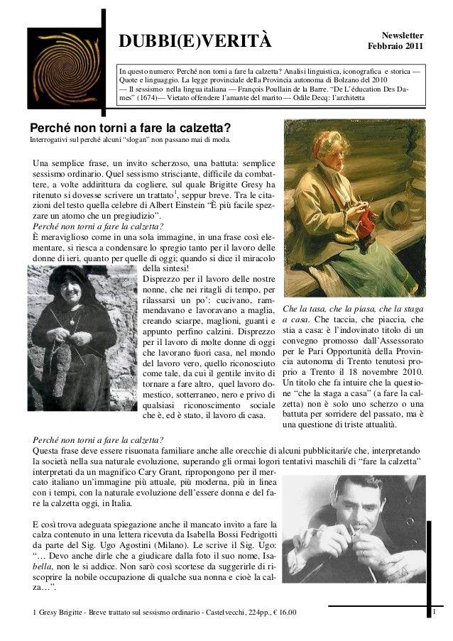 Newsletter                             DUBBI(E)VERITÀ                                                                    F...