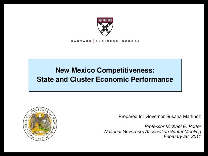 New Mexico Competitiveness:                                     State and Cluster Economic Performance                    ...