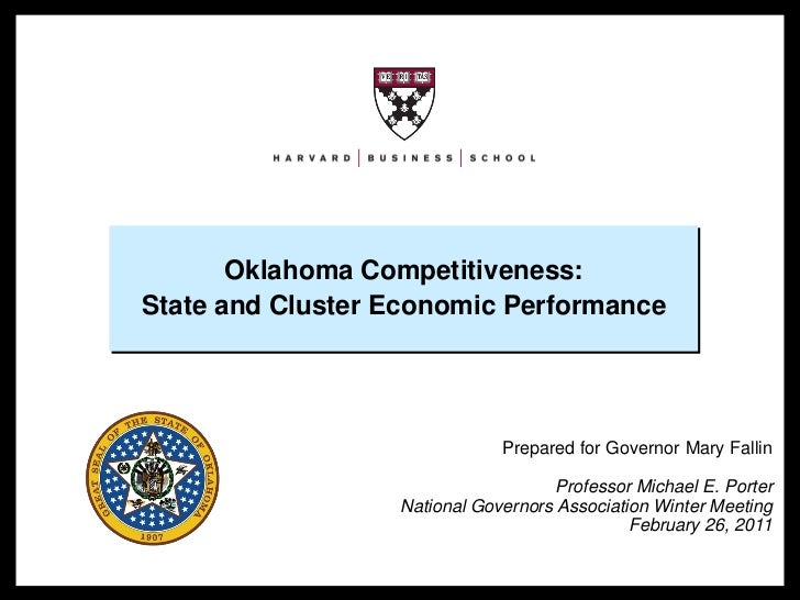 Oklahoma Competitiveness:                      State and Cluster Economic Performance                                     ...