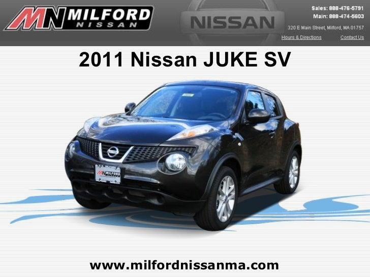 www.milfordnissanma.com 2011 Nissan JUKE SV
